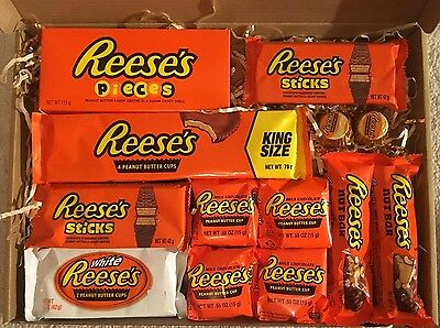LARGE Reese's Hamper Chocolate American Reeces Gift Candy Christmas Birthday
