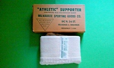 Vintage Athletic Supporter (Jockstrap) & Box - MILWAUKEE SPORTING GOODS CO.