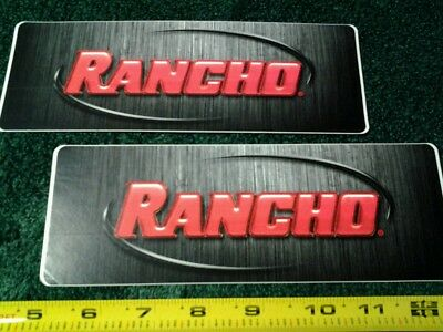 Lot of 2 Rancho Shocks Suspension Racing Decals Truck Off Road