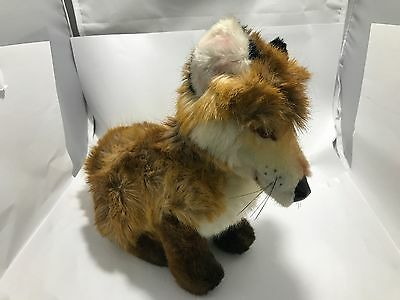 Original Vintage Steiff Junior Fuzzy Fox Plush - Woven Fur - 2892/28 - 1981-1983