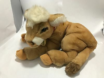 Original Vintage Steiff Kalb Calf Cow Plush - Woven Fur - 3795/27 - 1982-1987