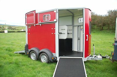 Red Ifor Williams HB506 2 horse trailer (NO VAT)