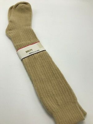 Chenille Socks Mens Tan Taupe Vintage 1980s Calf Crew Knee High