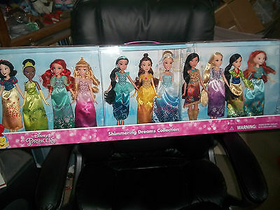 Disney Princess 11 dolls Shimmering Dream Collection new