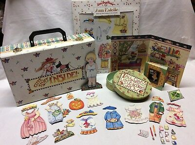 MARY ENGELBREIT Mixed Lot (50 Pieces) Carry Case, Book, Magnetic Paper Dolls