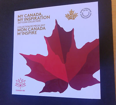 2017 Official Canada 150 My Canada  My Inspiration 7 Coin SET  (BU from Roll)
