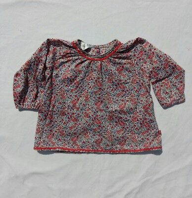 Bebe by minihaha Girls Lightweight Blouse size 0 Floral Long Sleeve Button Back