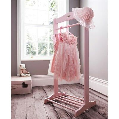 Toddlers Dress Up Rail Clothes Shoe Rack Garment Hanging Wood Small Boys Girls