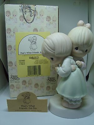 """PRECIOUS MOMENTS Figurine """"THAT'S WHAT FRIENDS ARE FOR"""" A Must See!"""