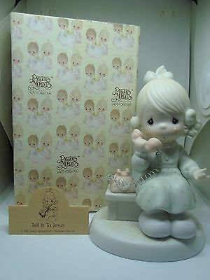 """PRECIOUS MOMENTS Figurine """"TELL IT TO JESUS"""" A Must See!"""
