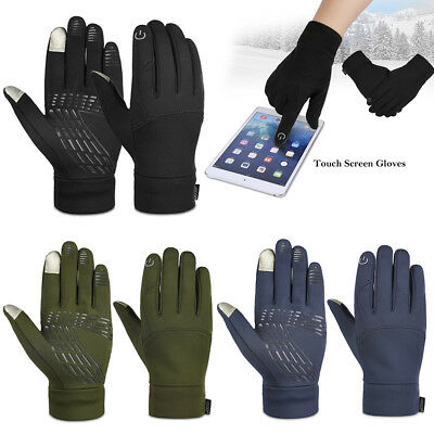 US Mens Gloves Touch Screen Gloves Winter Warm Gloves Running Cycling M L XL Hot