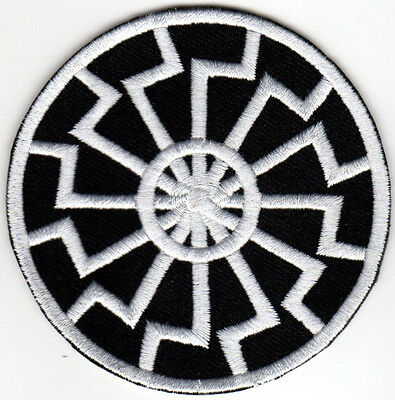BLACK SUN SONNENRAD IRON ON PATCH thor runes asatru viking odin norse mythology