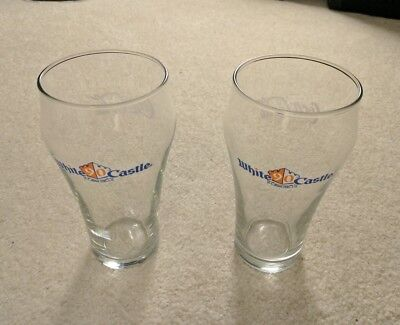 Lot of 2- 2011 WHITE CASTLE 90th Anniversary COCA COLA Commemorative 16oz Glass
