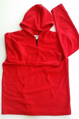 OLD NAVY Hoodie Red Long Sleeves Boys Youth. Fleece. Size 10 - 12. Pullover
