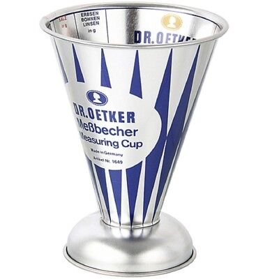 Dr. Oetker Messbecher Nostalgie, Metall, 0,5 l, Becher, Messkanne, Literbecher