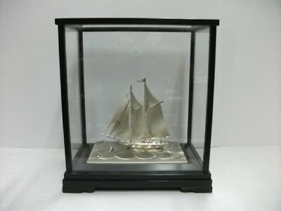 The sailboat of silver960 of Japan. 2masts. #83g/ 2.92oz. TAKEHIKO's work.