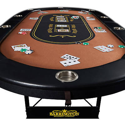 Barrington 10-Player Poker Table - Brand NEW - *NO TAX*