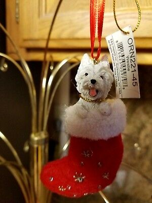 West Highland Terrier, Santa's Little Pals Dog Christmas Ornament