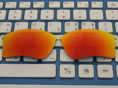 Replacement Fire Red Mirror Polarized Lenses for Quarter Jacket Sunglass OO9200