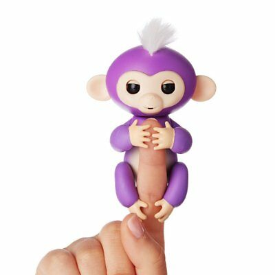 Fingerlings ouistiti violet bébé singe interactif de 13cm
