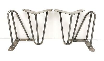 Hairpin Legs Set of 4,1940`S,Table,Desk,Bench legs, 8''/21 cm, unfinished steel