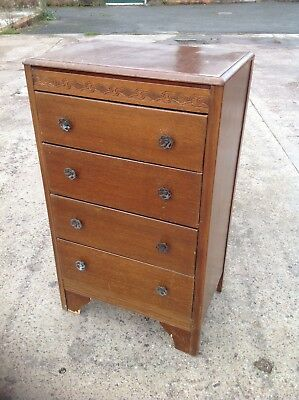 Four Drawer Chest with Opening Mirror Top c1950/60.