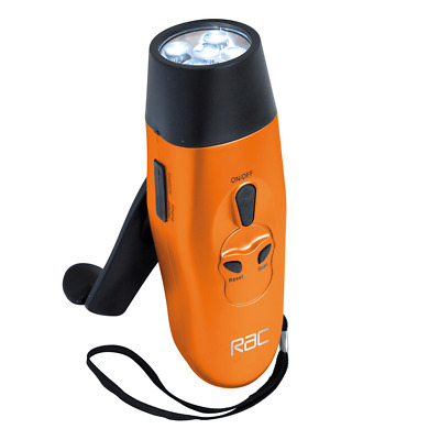 New! Rac Dynamo Torch With Fm Radio Boxed Includes Wrist Strap And Eco Friendly!