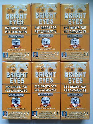Cataract Ethos Bright Eyes Eye Drops for Dogs & Pets 6 Boxes 60ml