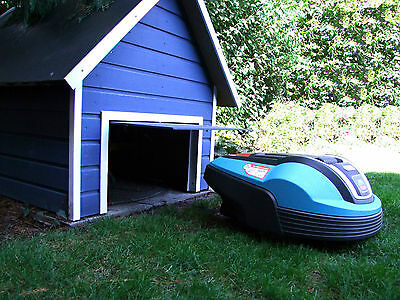 Plan - Robot lawn mower garage with automatic flap