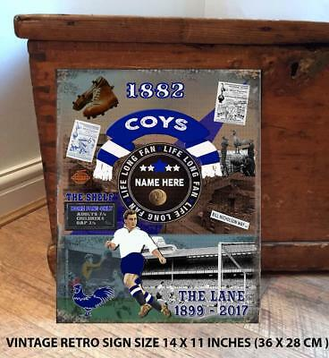 PERSONALISED TOTTENHAM THE SPURS NO 1 FAN FOOTBALL Vintage  Metal Wall Sign