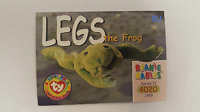 TY Beanie Baby collector card Legs the Frog Series 2 EU