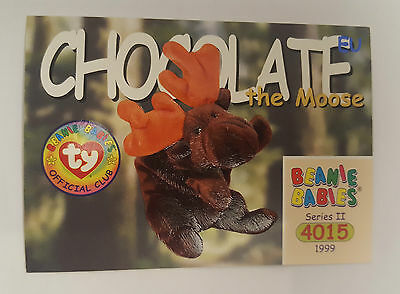 TY Beanie Baby collector card Chocolate the Moose Series 2 EU