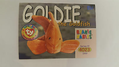 TY Beanie Baby collector card Goldie the goldfish Series 2 EU