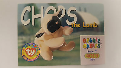TY Beanie Baby collector card Chops the lamb Series 1