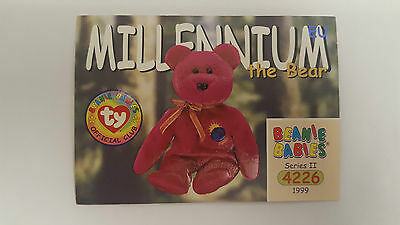 TY Beanie Baby collector card Millennium the Bear Series 2 EU