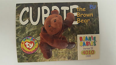 TY Beanie Baby collector card Cubby the Brown Bear Series 2 EU