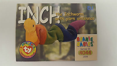 TY Beanie Baby collector card Inch the Inchworm 2 EU
