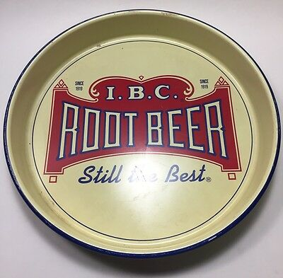 Vintage IBC Root Beer Serving Tray Gorgeous Soda Advertisement