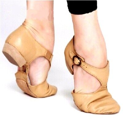 Jazz Shoes Leather Stretch Genuine Women Ballet Teacher Sandals Excercise Shoes