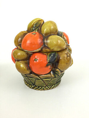 vintage ceramic covered candy jar NAR Co. 3354 - assorted Fruit
