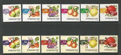 TAJIKISTAN 2005  FRUITS SET Mi 361-372 . MNH