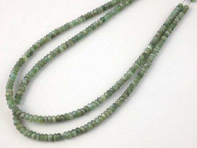 """1 Strand Natural Cats Eye Faceted Roundel 3.5-4 mm Gemstone Beads 14""""Long"""