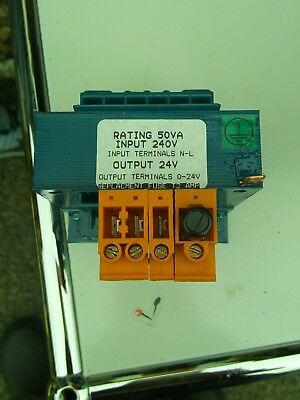 Single Voltage 240V to 24V (240/24V) Transformer 50VA
