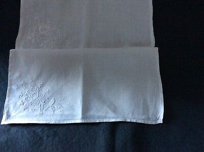 Collection of vintage embroidered handkerchiefs