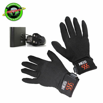 Keis Heated Inner Gloves and 2600 mAh Lithium Ion Battery Combo Deal