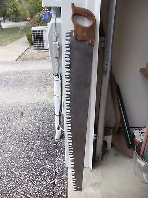 """Vintage One Man Crosscut/buck  Saw With A 42"""" Blade      1007-12"""
