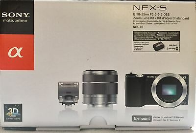 Sony NEX-5K 14.2MP Digital Camera BUNDLE - (Kit w/ E OSS 18-55mm Lens)
