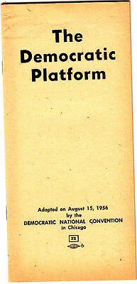 The Democratic Platform 1956 Democratic National Convention Chicago Booklet