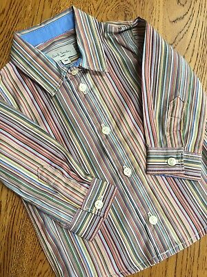 Paul Smith Baby Boys Signature Multi Stripe Shirt Age 3 Mths