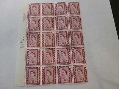 Northern Ireland Stamps (20 x 6d 1968 Claret)